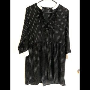 Dress Zara size M, black with white dotts
